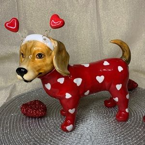 Blue Sky Clayworks Valentine Dog Beagle Tabletop